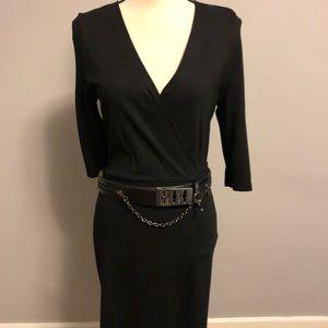 Top Shop Knit Cross Front Dress